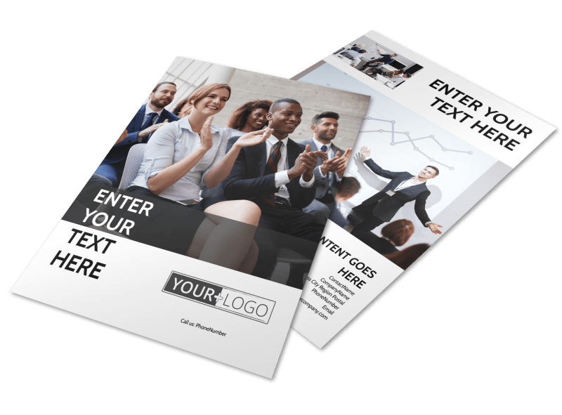 Business Development Conference Flyer Template Preview 1