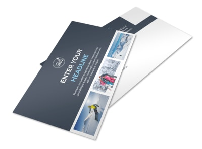 Ski & Snowboard Instructor Postcard Template 2