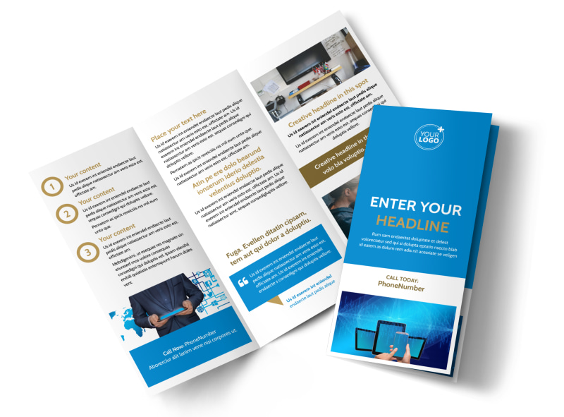 Internet & Cable Provider Brochure Template Preview 4