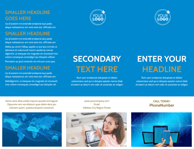 Internet & Cable Provider Brochure Template Preview 2