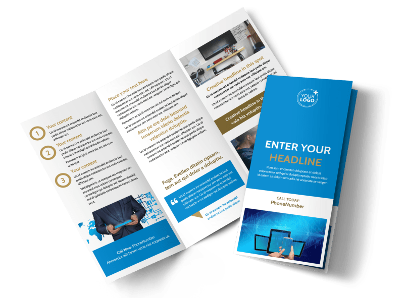 Internet & Cable Provider Brochure Template Preview 1