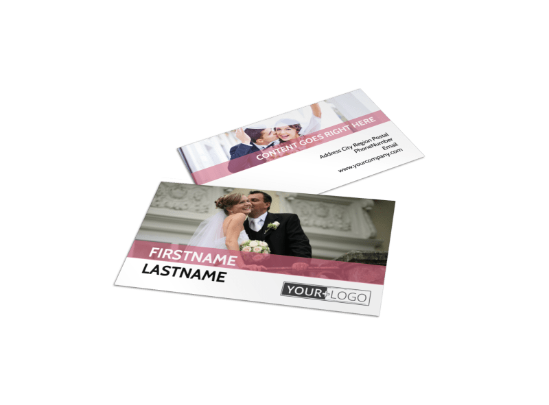 Wedding Venue Business Card Template Preview 1