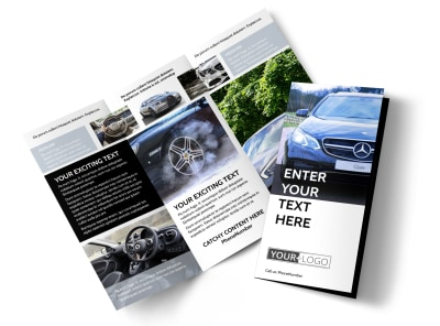 Luxury Auto Dealer Tri-Fold Brochure Template