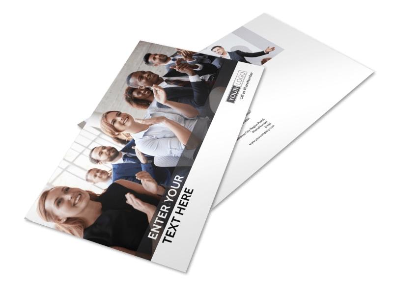 Business Development Conference Postcard Template