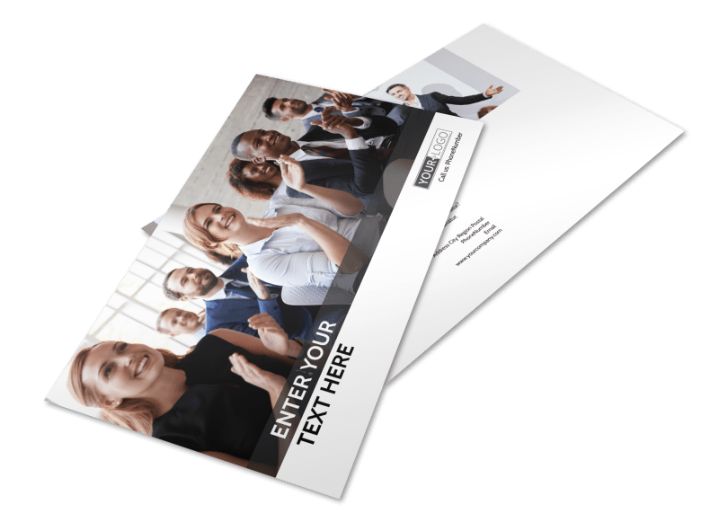 Business Development Conference Postcard Template Preview 1