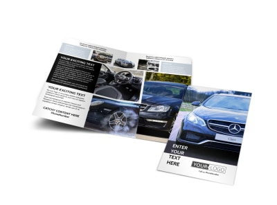 Luxury Auto Dealer Bi-Fold Brochure Template