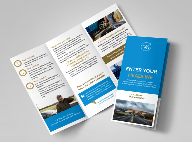 Roadside Assistance Service Brochure Template Preview 4