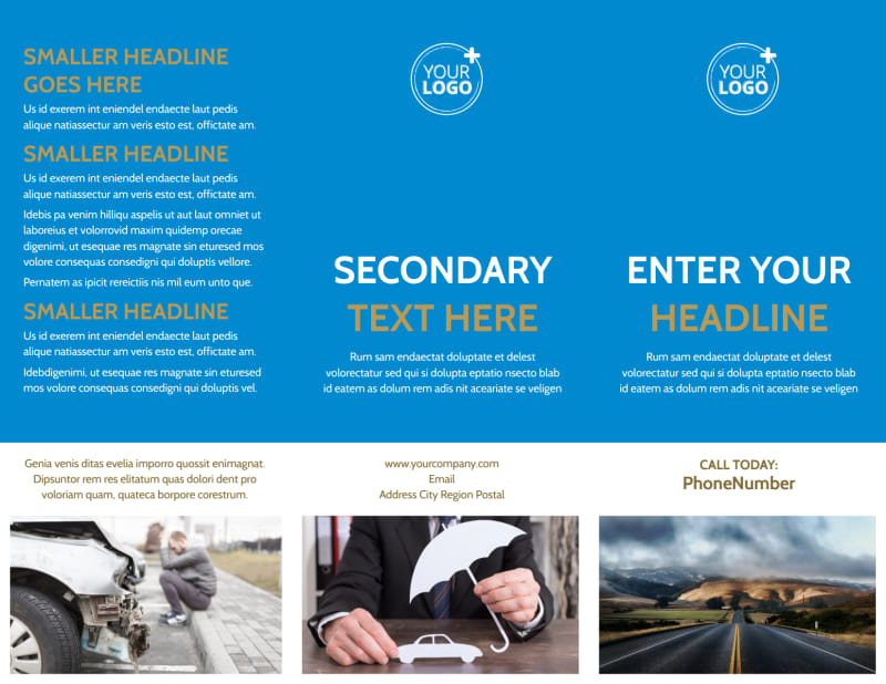 Roadside Assistance Service Brochure Template Preview 2