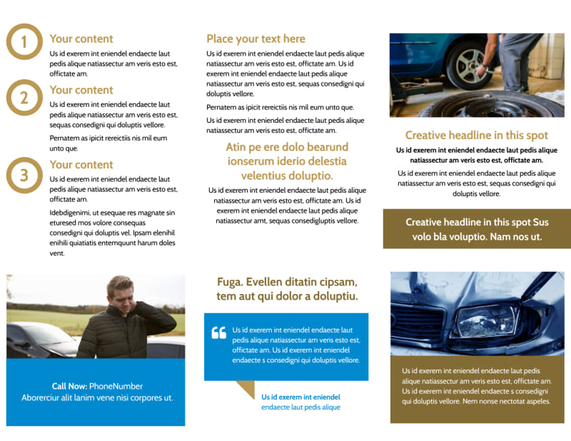 Roadside Assistance Service Brochure Template Preview 3
