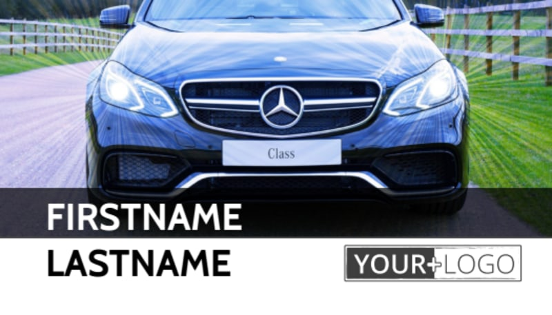 Luxury Auto Dealer Business Card Template Preview 2