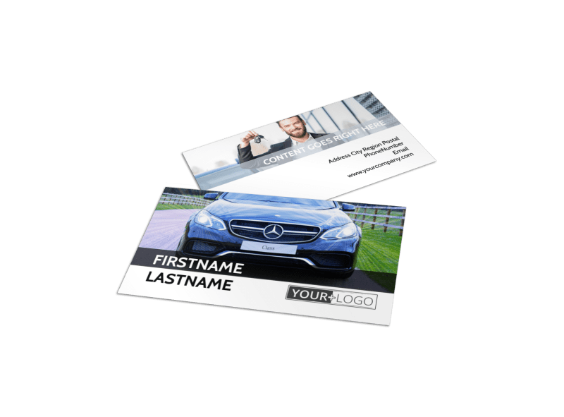 Luxury Auto Dealer Business Card Template Preview 1