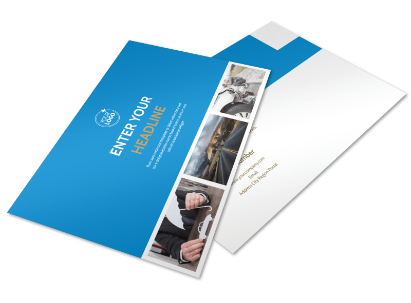 Roadside Assistance Service Postcard Template Preview 1