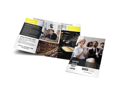 Business Development Conference Bi-Fold Brochure Template preview