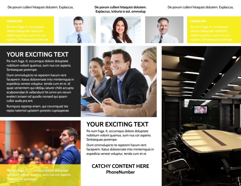 Business Development Conference Brochure Template Preview 3