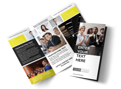 Business Development Conference Tri-Fold Brochure Template preview