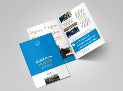 Roadside Assistance Service Bi-Fold Brochure Template 2