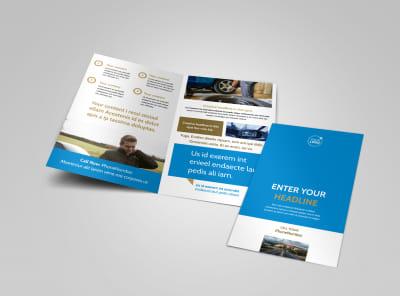 Roadside Assistance Service Bi-Fold Brochure Template