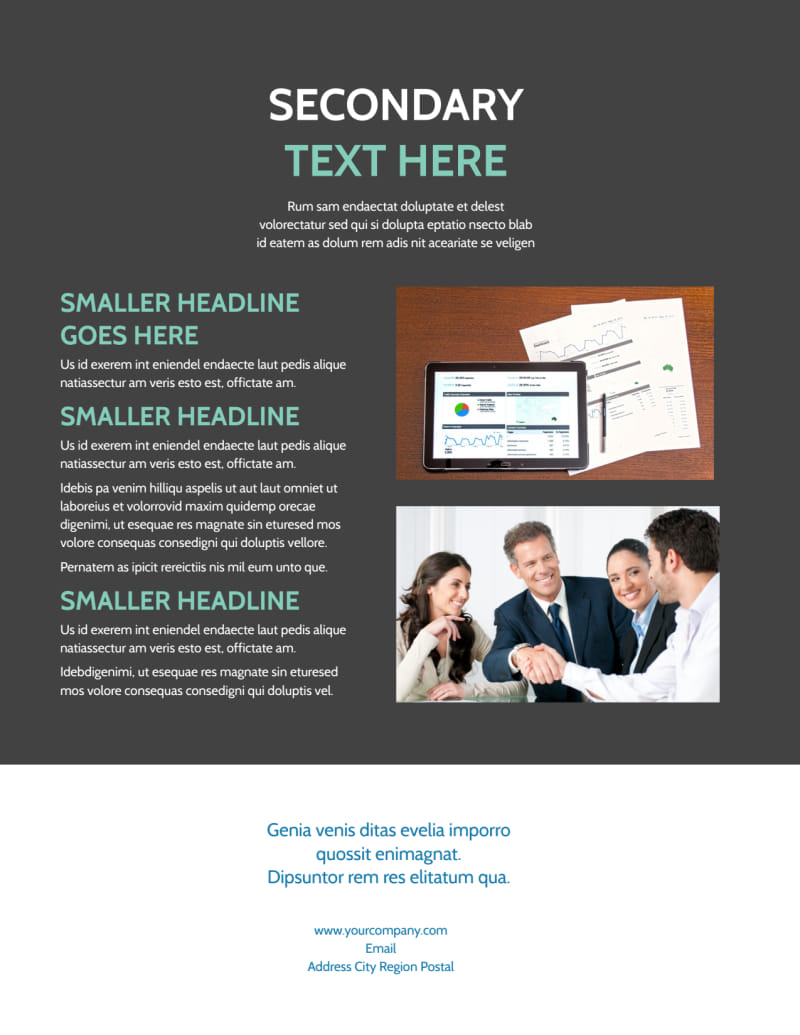 Financial Planning Service Flyer Template Preview 3