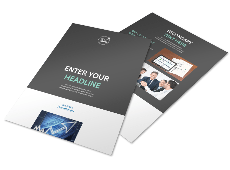 Financial Planning Service Flyer Template Preview 1