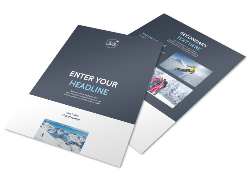 Ski & Snowboard Instructor Flyer Template