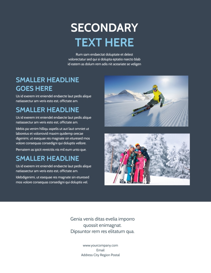 Ski Instructor Flyer Template Preview 3