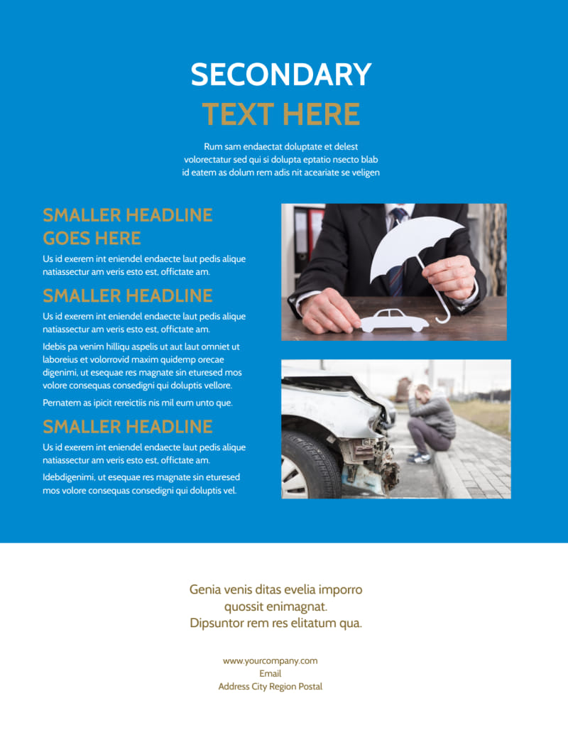 Roadside Assistance Service Flyer Template Preview 3