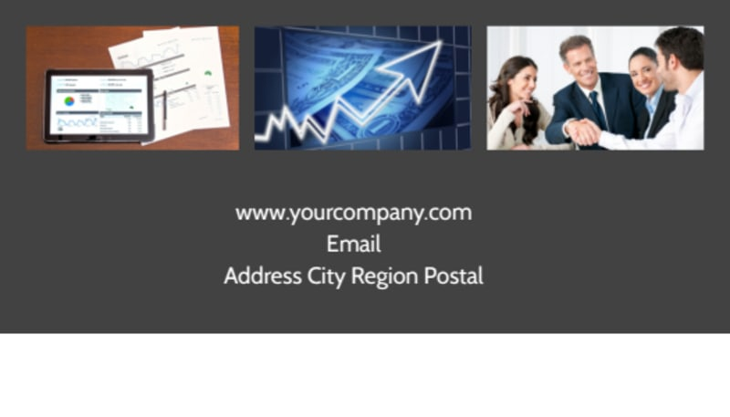 Financial Planning Service Business Card Template Preview 3