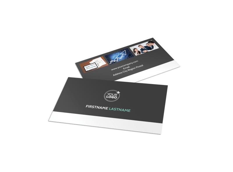 Financial Planning Service Business Card Template Preview 1