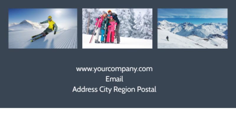 Ski Instructor Business Card Template Preview 3
