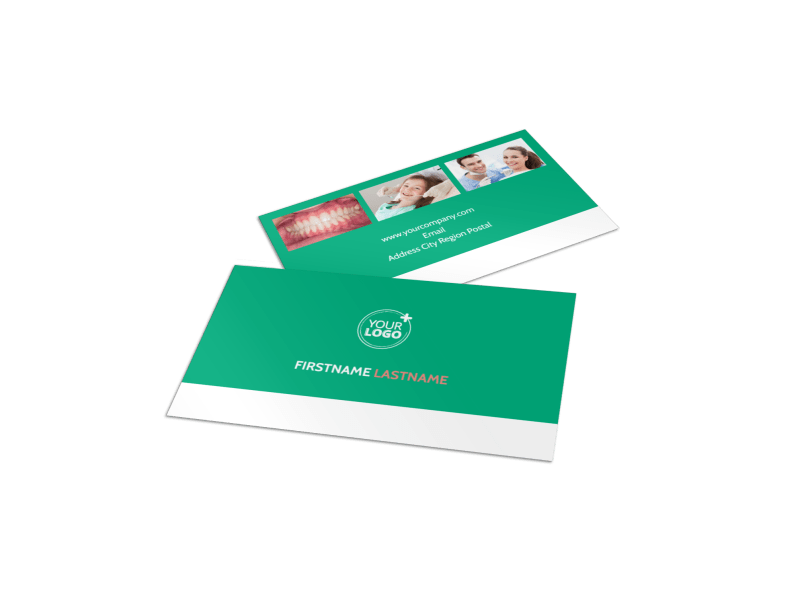 Dental Surgery Business Card Template Preview 1