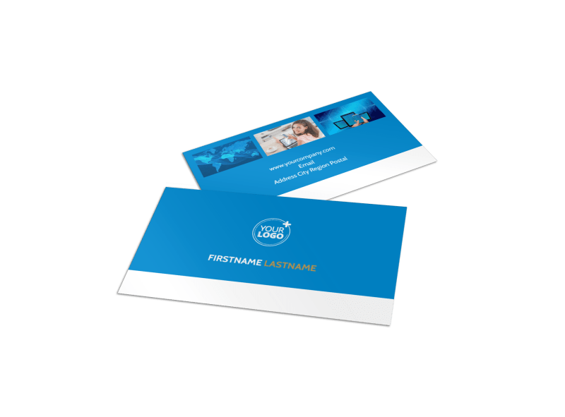 Internet & Cable Provider Business Card Template Preview 1