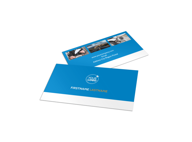 Roadside Assistance Service Business Card Template Preview 1