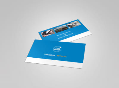 Roadside Assistance Service Business Card Template preview