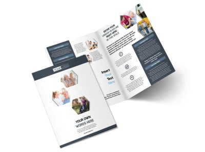 Healthcare Management Bi-Fold Brochure Template 2