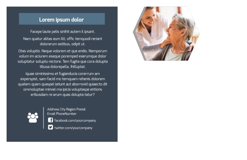 Home Healthcare Postcard Template Preview 3