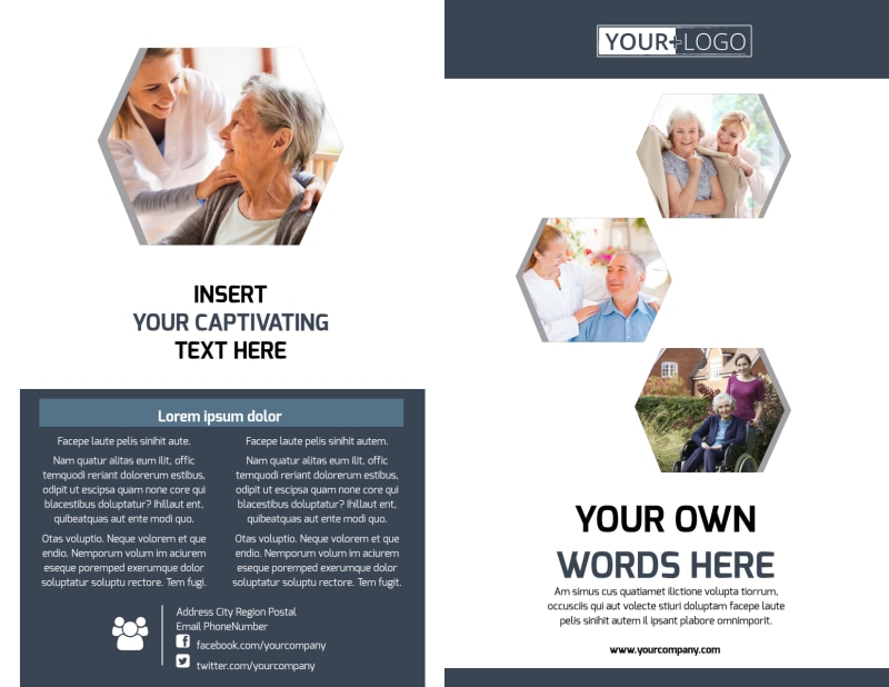 Home Healthcare Brochure Template Preview 2