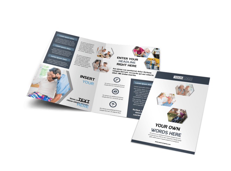 Home Healthcare Brochure Template Preview 1