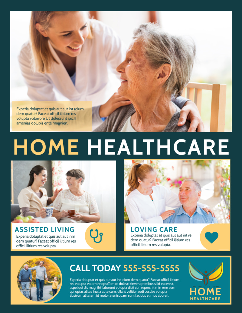 Home Healthcare Flyer Template Preview 2