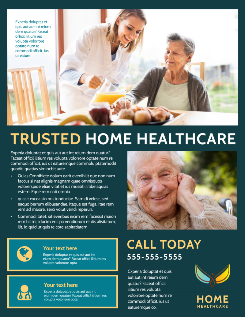 Home Healthcare Flyer Template Preview 3