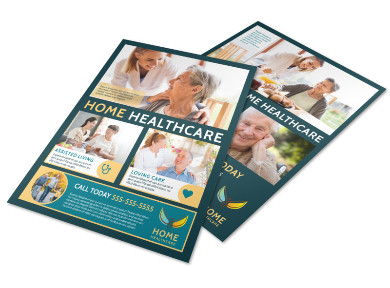 Home Healthcare Flyer Template Preview 4