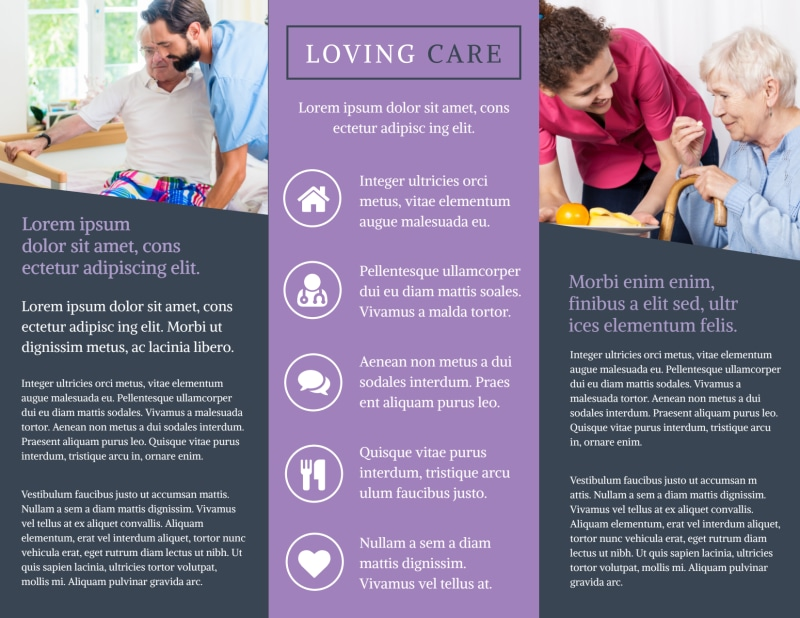 Home Healthcare Brochure Template Preview 3