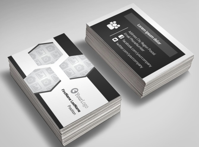 Healthcare Management Business Card Template