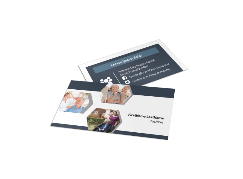 Home Healthcare Business Card Template Preview 1