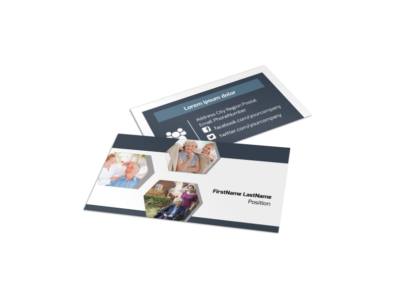 Home Healthcare Business Card Template Mycreativeshop
