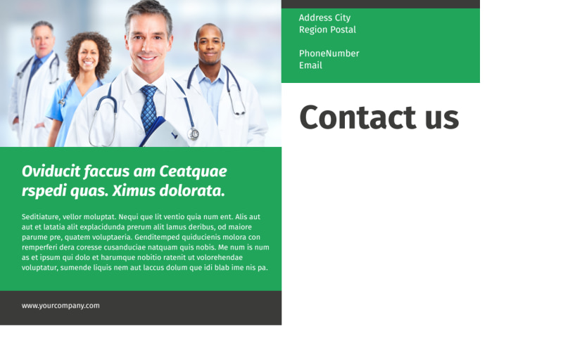 Medical Center Postcard Template Preview 3