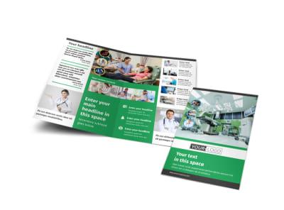 Hospital Bi-Fold Brochure Template