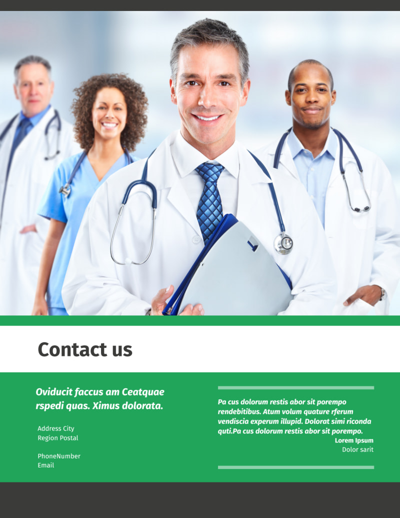Medical Center Flyer Template Preview 3
