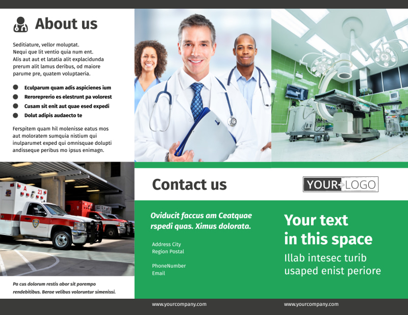 Medical Center Brochure Template Preview 2