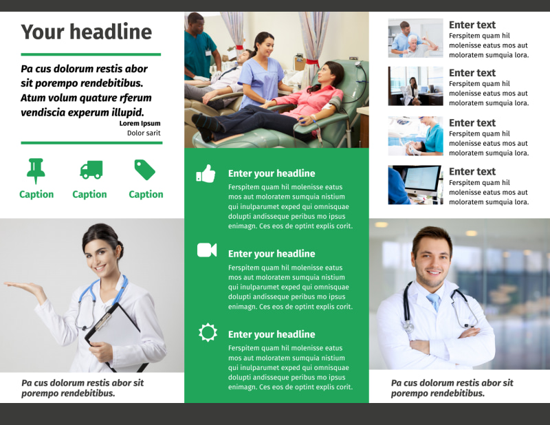 Medical Center Brochure Template Preview 3