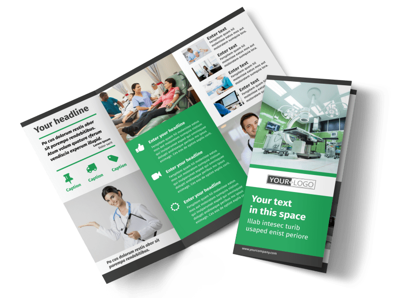 Medical Center Brochure Template Preview 1
